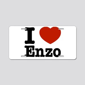 I love Enzo Aluminum License Plate