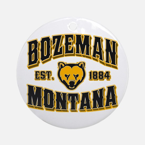 Bozeman Golden Bear Ornament (Round)