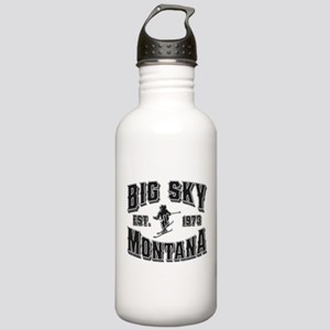 Big Sky Black & Silver Stainless Water Bottle 1.0L