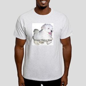 Devoted Maltese Mom Ash Grey T-Shirt