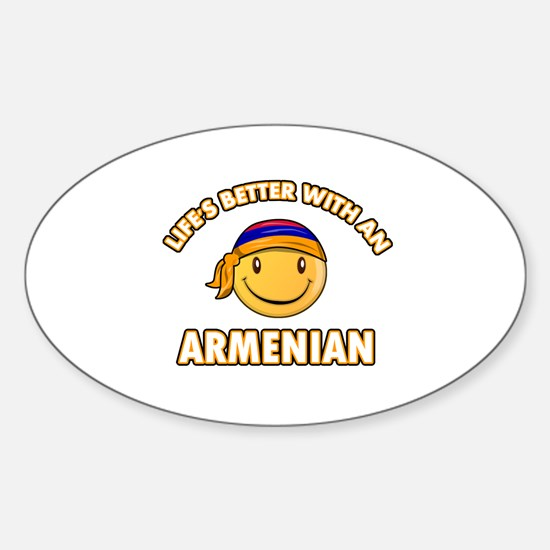 Cute Armenian designs Sticker (Oval)