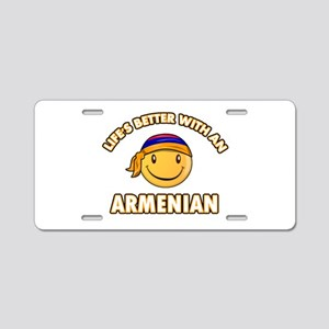 Cute Armenian designs Aluminum License Plate