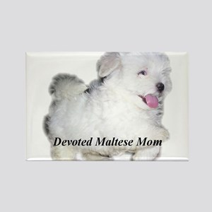 Devoted Maltese Mom Rectangle Magnet
