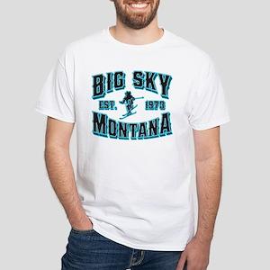 Big Sky Black Ice White T-Shirt