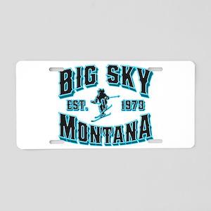Big Sky Black Ice Aluminum License Plate
