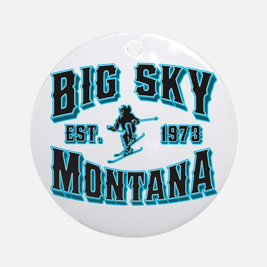 Big Sky Black Ice Ornament (Round)