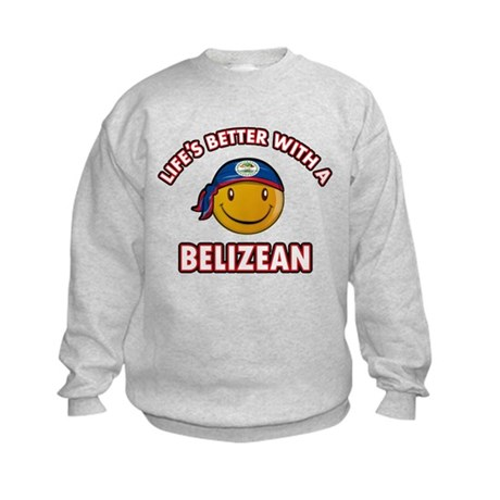 Cute Belizean designs Kids Sweatshirt