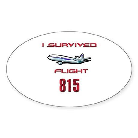 FLIGHT 815 OCEANIC AIR Oval Sticker