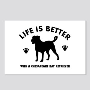 Chesapeake Bay Retriever Dog Breed Design Postcard