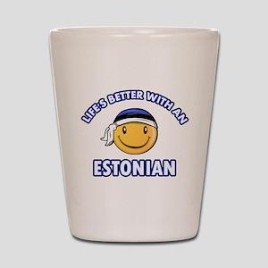 Cute Estonian designs Shot Glass