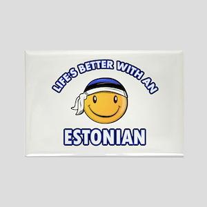 Cute Estonian designs Rectangle Magnet