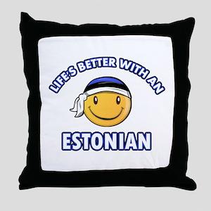 Cute Estonian designs Throw Pillow