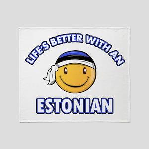 Cute Estonian designs Throw Blanket