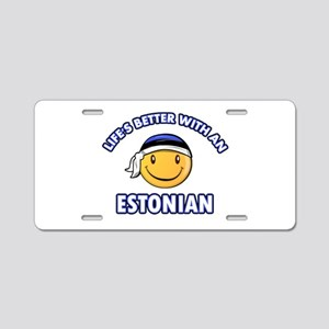 Cute Estonian designs Aluminum License Plate