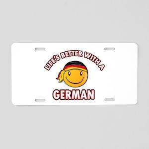 Cute German designs Aluminum License Plate