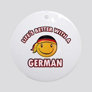 Cute German designs Ornament (Round)