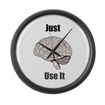 Your Brain - Use It! Large Wall Clock