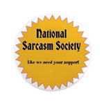 National Sarcasm Society Pin