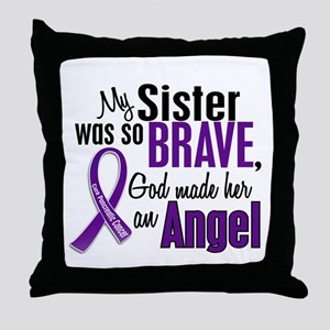 Angel 1 Pancreatic Cancer Throw Pillow