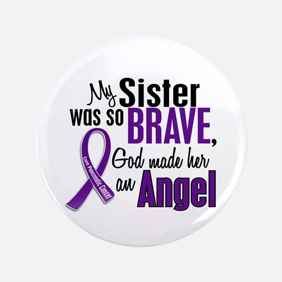 """Angel 1 Pancreatic Cancer 3.5"""" Button (100 pack)"""
