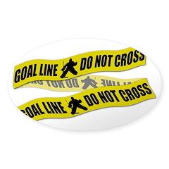Hockey Crime Tape Sticker (Oval)
