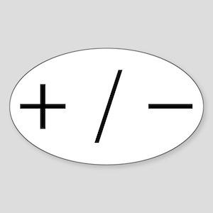 Plus/Minus Sticker (Oval)