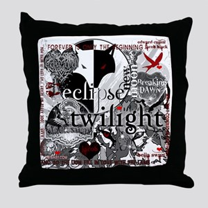 Must Have Twilight Collage by Twibaby Throw Pillow