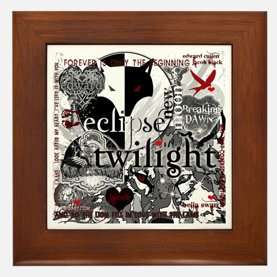 Must Have Twilight Collage by Twibaby Framed Tile