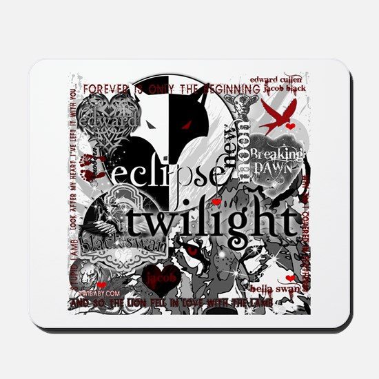 Must Have Twilight Collage by Twibaby Mousepad