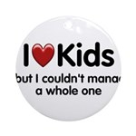 The Kids Lunchtime Ornament (Round)