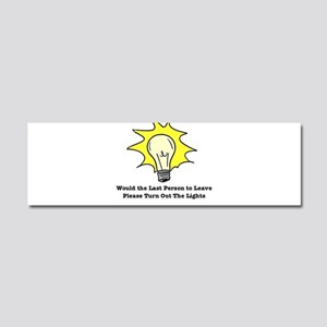 The Lights Out Car Magnet 10 x 3