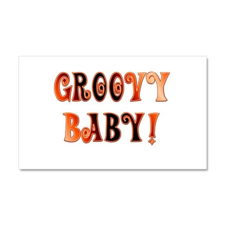 The Groovy Baby Car Magnet 20 x 12