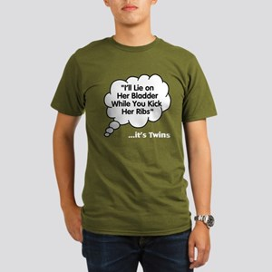What Twins say under this Organic Men's T-Shirt (d