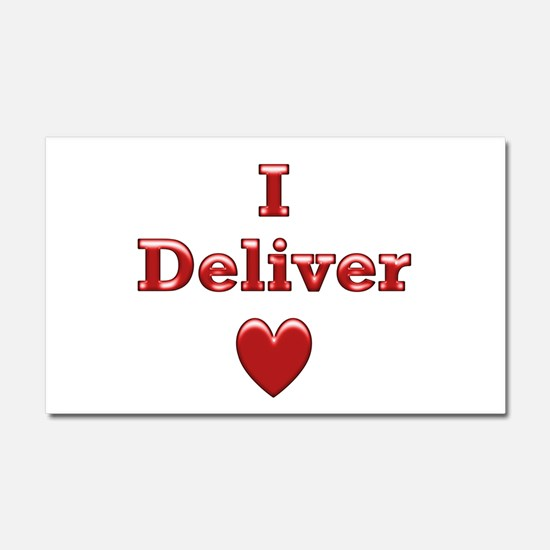 Deliver Love in This Car Magnet 20 x 12