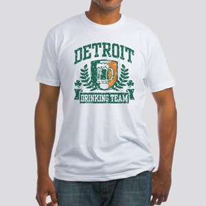 Detroit Irish Drinking Team Fitted T-Shirt