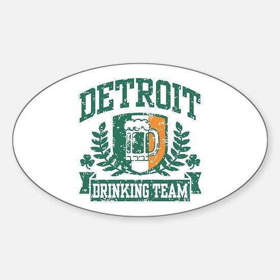 Detroit Irish Drinking Team Sticker (Oval)