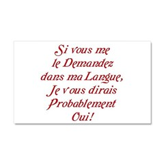 The French Car Magnet 20 x 12