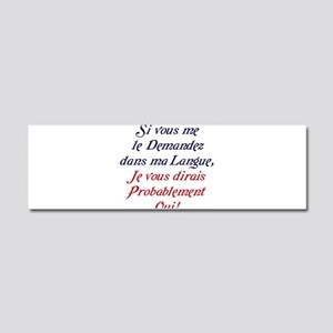 The French Car Magnet 10 x 3