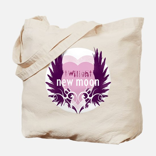 New Moon Pink Heart by Twibaby Tote Bag