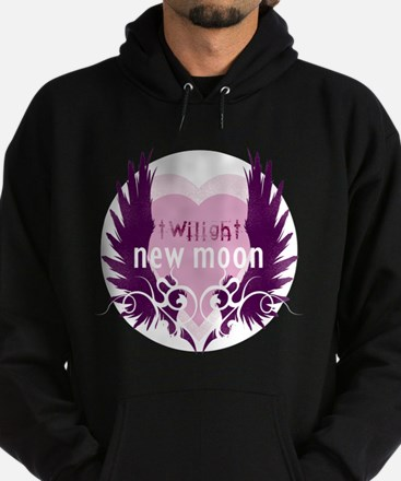 New Moon Pink Heart by Twibaby Hoodie (dark)