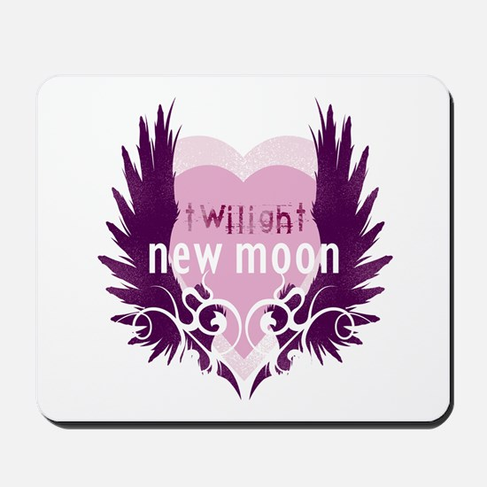 New Moon Pink Heart by Twibaby Mousepad