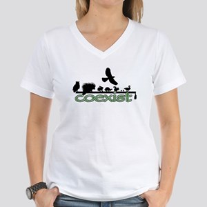 Wildlife Coexist Women's V-Neck T-Shirt