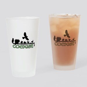 Wildlife Coexist Drinking Glass
