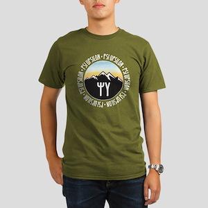 Psi Upsilon Mountain Organic Men's T-Shirt (dark)