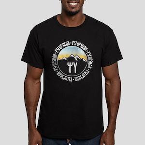 Psi Upsilon Mountain S Men's Fitted T-Shirt (dark)