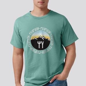 Psi Upsilon Mountain S Mens Comfort Color T-Shirts