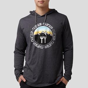 Psi Upsilon Mountain Sunset Mens Hooded T-Shirts