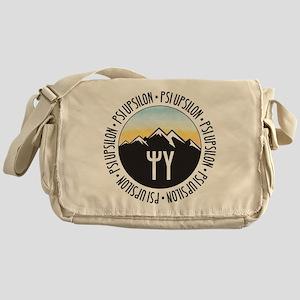Psi Upsilon Mountain Sunset Messenger Bag