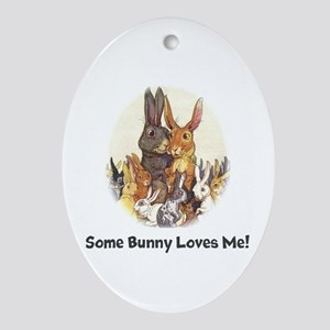 Some Bunny Ornament (Oval)