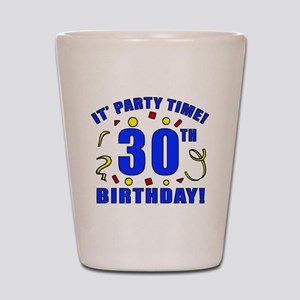 30th Birthday Party Time Shot Glass